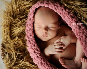 Mongolian Faux Fur Dark Camel colored - Photography Prop - Newborn/baby Photography Prop - Longer Length, Ready to ship