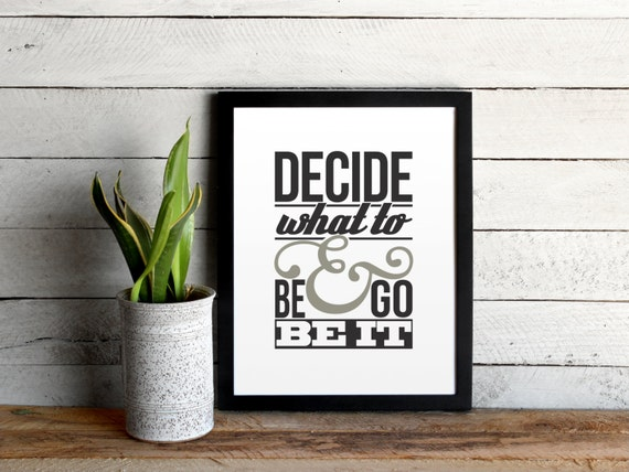 "The Avett Brothers Poster - ""Decide What To Be & Go Be It"" - Head Full of Doubt/Road Full of Promise Song Lyrics Print - Christmas Gift"