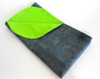 Doctor's Note Deco Forest and Lime Green Elegant Baby Blanket