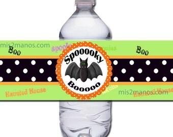 Costume Party or Halloween Water Bottle Label Digital Instant Download SET of 5