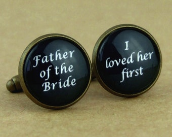 Custom Cuff Links, Personalized father of the bride wedding date cufflinks, Wedding cuff links, Groom cuff links, bestman cuff links-054