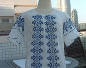 embroidered blouse hand made made in Hungary circa 1950's