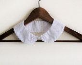 White Peter Pan Collar, collar  Necklace, Detachable Collar, For Women, Gift ideas
