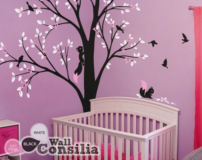 baum wand aufkleber kinderzimmer wanddekoration baum. Black Bedroom Furniture Sets. Home Design Ideas