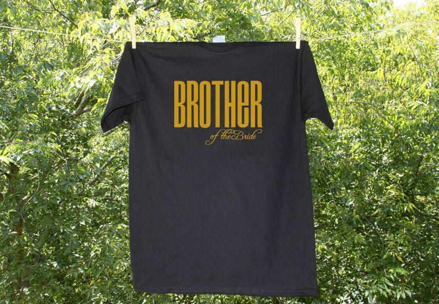 Brother of the bride classic droid wedding party shirt for Same day t shirt printing austin