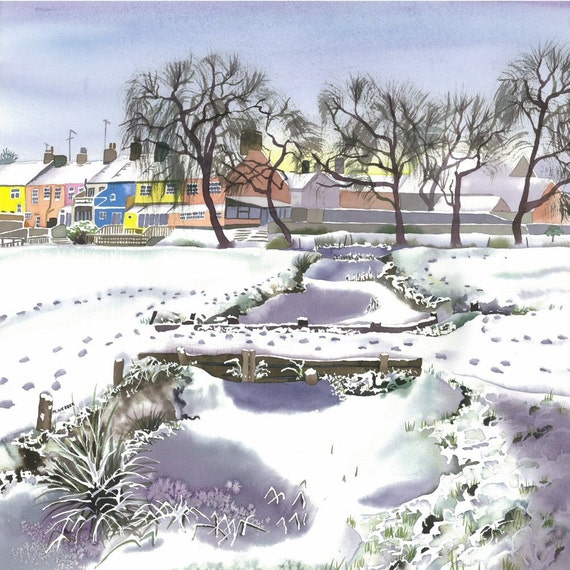 Snowscene Landscape Limited Edition Print