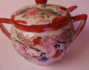 Geisha Mustard Condiment Jar with Spoon