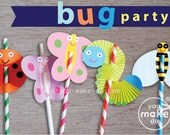 Bug party, butterfly party, ladybug party, bug birthday decorations, baby shower girl, baby shower boy, 1st birthday girl, 1st birthday boy