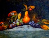 "Fine Art Print of my Original Oil Painting, Still Life Painting 5 X 7 ""Autumn Fruit II"""