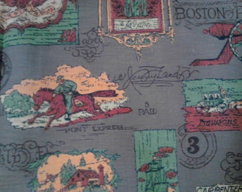 Vintage Historical Print Fabric  ECS