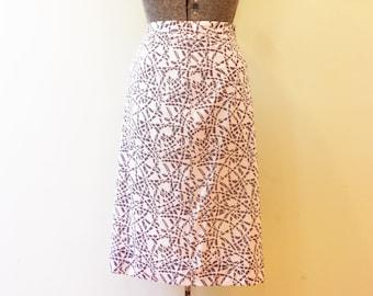 Vintage Pencil Skirt / Med/Large / Petoskey Stone