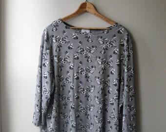 Silver Rose Three Quarter Length Oversize Shirt