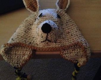 Crocheted Kangaroo Hat