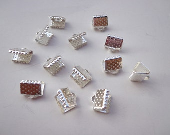 100 pcs 8mm Silver  plated Fasteners Clasps
