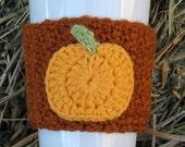 Crochet Pumpkin Coffee Cup Cozy