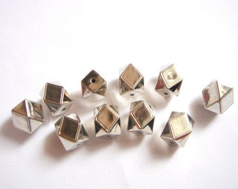CCB  Faceted  Geometric  Beads,CCB acrylic Beads,  Geometric Jewelry,Do it Yourself Geometric necklace