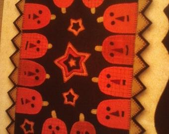 Wool Applique Pattern - Pumpkin Party