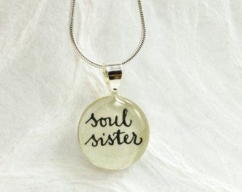 Soul Sister Necklace - Gift for Best Friend, BFF Necklace, Unique Friendship Jewelry, Handmade Best Friend Jewelry by Bliss In Art