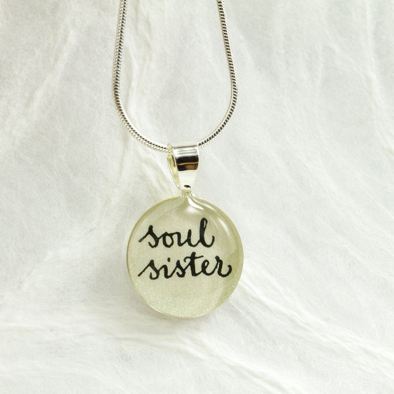 Soul Sister Necklace Gift For Best Friend Meaningful