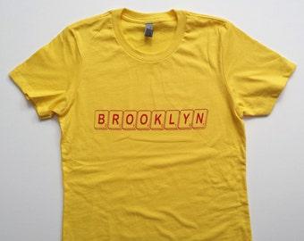 Brooklyn Woman's Tee - Scrabble Font