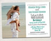 Custom Photo Wedding Invitations- Print your own file.  Printed Cards with envelopes also available