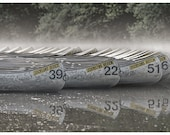 "Fine Art Photography: ""Canoes in the Mist"" 20x10 print, boating, Russian River, beach, water sports"