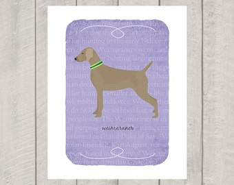 Weimaraner Breed Custom Dog Art