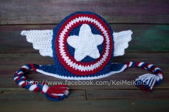 Gorros tejidos de capitan america - Imagui