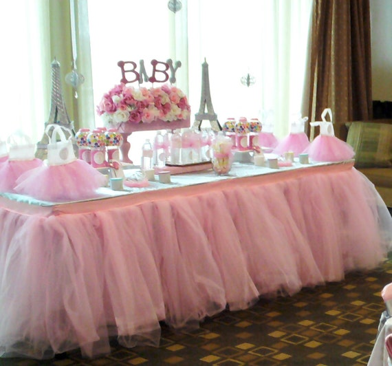 Tutu Table Skirt Custom Made Wedding Birthday Baby