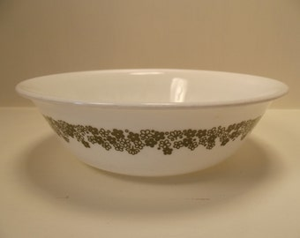 Vintage LARGER Green Crazy Daisy CORELLE Soup or Cereal BOWL