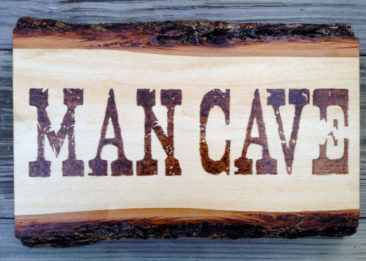 Man Cave Signs Wooden : Man cave rustic wood burned sign pyrography by bluemarket