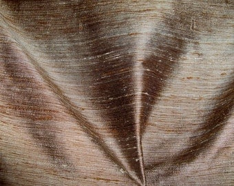 KOPLAVITCH RAMPUR 3 Ply Raw Silk Fabric 10 yards Taupe Brown