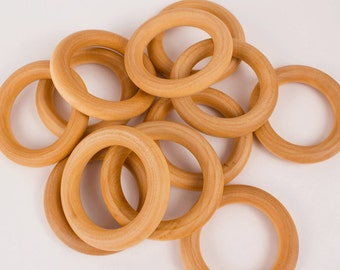 50 Wooden Teether Ring