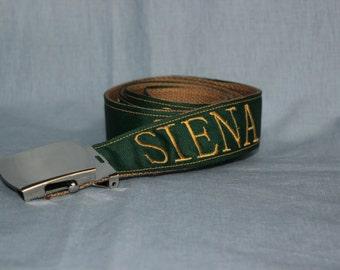 Embroidered Siena College Belt