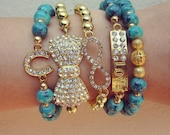 Arm Candy Sideways Cross beaded Bracelets set