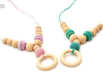 Nursing necklace - Etno Mama Nursing Necklace - Teething ring by MagazinIL Choose Your Bead Color