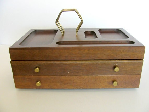 Mens Valet Dresser Organizer Vintage Mens Jewelry by BlueMoonAttic