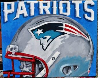 New England Patriots Helmet Fine Art