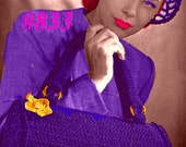 Vintage 1940s Dutch Cap & Barrel Bag Duo 833 PDF Digital Crochet Pattern