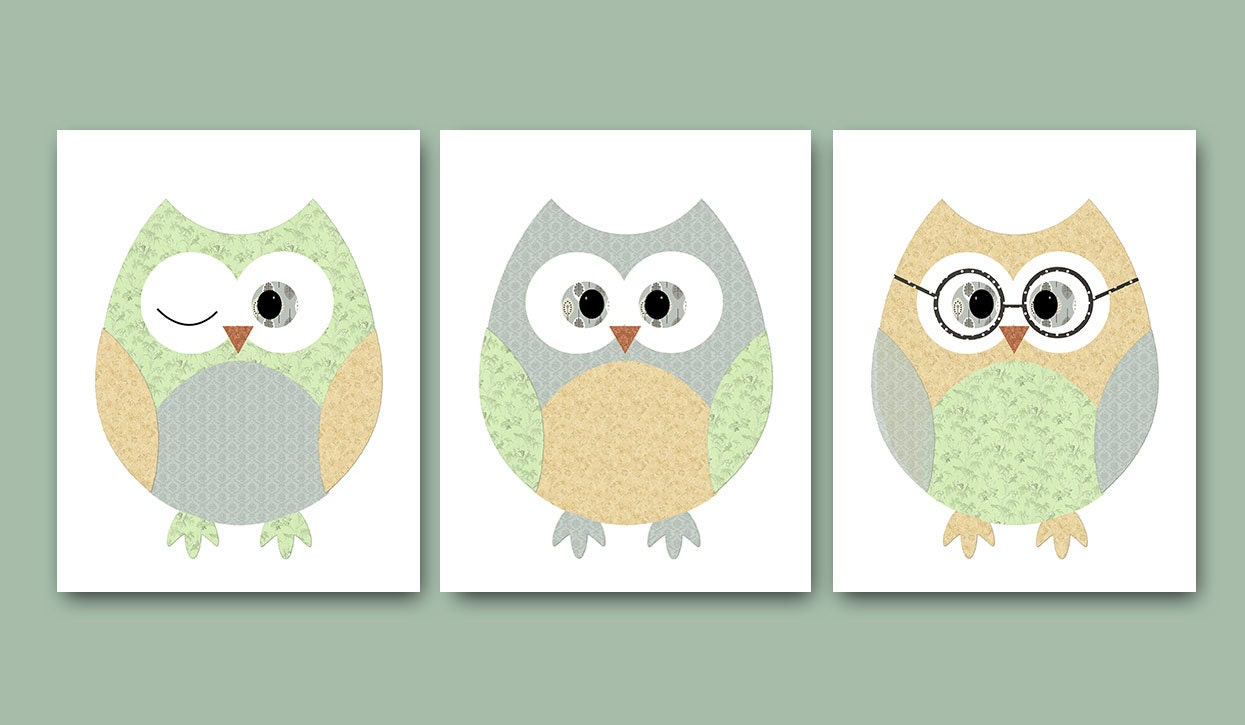 Owl decor owl nursery baby nursery decor baby boy nursery kids for Baby owl decoration