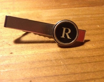Personalized Typewriter Key Tie Clip
