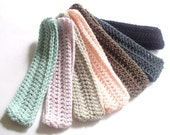 Crochet Headbands - Three - Your Choice of Colors - Handmade in the U.S.A. - Women Hair Accessories - Headband Set