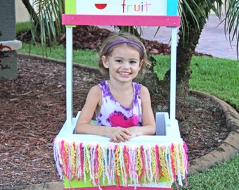 Toddler Wooden Lemonade Stand / Fruit Stand / Kissing Booth