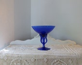 SALE Royal Blue Compote, Intense Jewel Tone