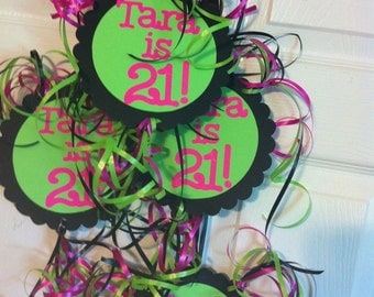 21st 30th 40th 50th Birthday Decorations Party Danglers Choose Your Own Text and Colors