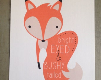Bright Eyed and Bushy Tailed 8x10 Print