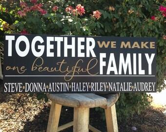 Blended Family Name Sign