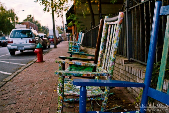 Painted Rocking Chairs by MelaLuna