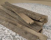 Amish tobacco lath wood, rustic barn board, reclaimed wood boards, primitive craft supply,