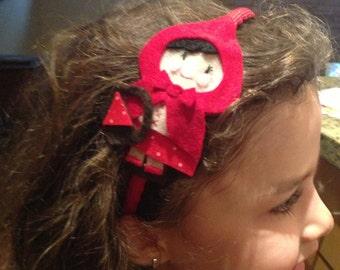 Little Red Ridding hood felt headband